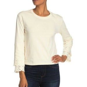 NWT Madewell cream pullover bell sleeves size XS
